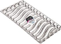 Kit Com 5 Bandejas Cristal Acrilica Retangular Incolor Mitro - Xplast