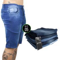 Kit com 5 bermudas Jeans Vira Lata Wear Originais lavadas -