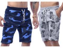 Kit Com 5 Bermudas Shorts Moletom Masculinas Premium Original - Equilibrium