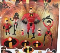 Kit Com 5 Boneco Da Familia Os Incríveis 2 Herois Filme Lançamento - Cn