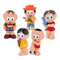 Kit Com 5 Bonecos Mordedor Para Bebê Turma Da Mônica Vinil - Cebolinha Mônica Cascão Magali e Chico Bento - La Toys