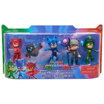 Kit Com 5 Bonecos Pj Masks Conjunto Super Moon Lua Dtc -