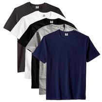 Kit com 5 Camiseta Masculina Básica Algodão Premium Caicos - Part.B