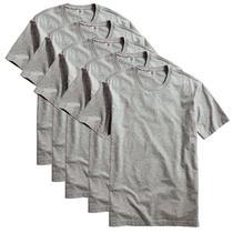 Kit com 5 Camiseta Masculina Básica Algodão Premium Cinza - Part.B
