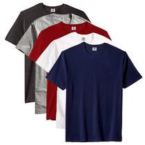 Kit com 5 Camiseta Masculina Básica Algodão Premium Noronha - Part.B