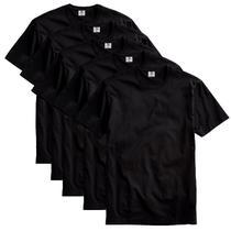 Kit com 5 Camiseta Masculina Básica Algodão Premium Preto - Part.B