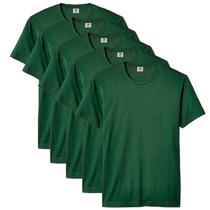 Kit com 5 Camiseta Masculina Básica Algodão Premium Verde - Part.B