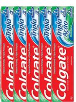Kit com 5 Cremes Dentais Colgate Máxima Proteção Anticáries 90g -