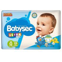 kit com 5 Fralda Descartável Infantil Babysec Ultra Sec G -