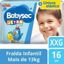 kit com 5 Fralda Descartável Infantil Babysec Ultra Sec XXG -