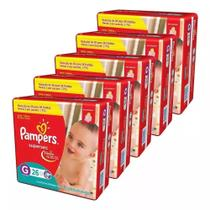 Kit Com 5 Fralda Pampers Supersec G Revenda Barato 130 Unid. -