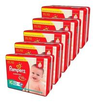 Kit Com 5 Fralda Pampers Supersec XG Revenda Barato 110 Unid. -