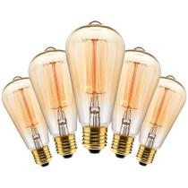 Kit com 5 Lâmpadas Filamento Carbono ST64 40w 127V 2000K 48LCARST6401 Elgin -