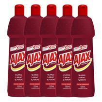 Kit com 5 Limpador Diluível Ajax Multiuso Frutas Vermelhas 500ml Cada -