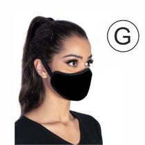 Kit com 5 máscaras executiva tripla camada higiênica lavável preta tamanho G - Master Máscaras