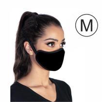 Kit com 5 máscaras executiva tripla camada higiênica lavável preta tamanho M - Master Máscaras