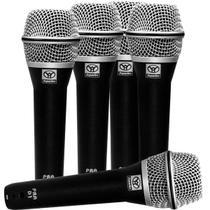 Kit com 5 Microfones Superlux PRA-D5 com Case -