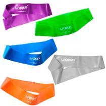 Kit com 5 Mini Bands Leve, Media, Forte, Extra Forte e Super Forte Liveup -