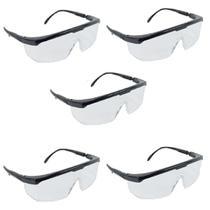 Kit com 5 Óculos Proteção Segurança Epi Incolor Jaguar - Kalipso