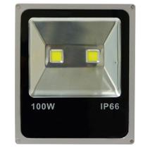 Kit Com 5 Pecas - Holofote Refletor Super Led Duplo 100w Bivolt Branco Quente - Powerxl