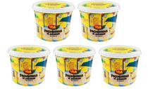 Kit com 5 Potes Paçoca Tablete de Amendoim Yoki 1,1 Kg sendo 22g cada -