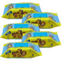 Kit Com 5 Toalhas Umedecidas Premium 100 Folhas Turma Do Soninho -