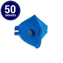 Kit com 50 Unidades de Máscara (Respirador) com Válvula Pff2 Delta Plus Wps1327 -