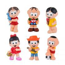 Kit com 6 Bonecos Mordedor Para Bebê Turma Da Mônica Vinil - Mônica Cebolinha Magali Cascão Chico Bento e Rosinha - La Toy
