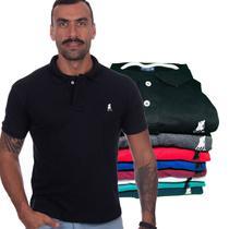 Kit com 6 Camisas Gola Polo Masculina Original Polo CLUB BR -