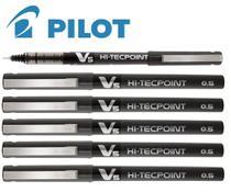 Kit Com 6 Canetas Pilot Hi Tecpoint V5 Preta -