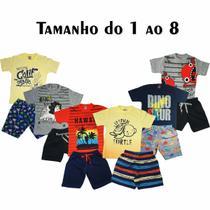 kit com 6 Conjuntos Infantis Verão para Menino. - Cleomara