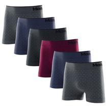 Kit com 6 Cuecas Boxer Microfibra Sem Costura Mash 710.14 -