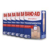 Kit com 6 Curativos BAND AID Regular com 40 unidades -