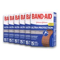 Kit com 6 Curativos BAND AID Ultra Protection com 15 unidades -