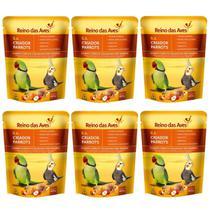 Kit Com 6 Farinhadas R.a Criador Parrots 400g - Reino Das Aves -