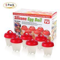 Kit com 6 Formas de Silicone Egg Boil - Importado