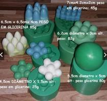 kit com 6 formas moldes massageadores para fabricação de sabonetes - Jj Artesanato