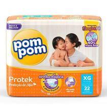 Kit Com 6 Fraldas Pompom Descartável Infantil Atacado Xg - Pom Pom