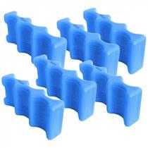 Kit com 6 Gelo Reutilizavel Gela Lata Formato de 3 Latinhas Plastico Reciclavel  Gelbrix -