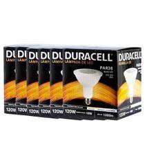 Kit com 6 Lâmpadas Led Duracell PAR38 18W 6500K - Branca -