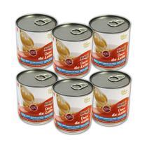 Kit com 6 latas de Doce de Leite Diet Hué (Sem Adição de Açúcares) Sem Glúten (335g cada) -