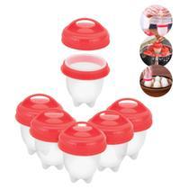 Kit com 6 Mini Potes para Cozinhar Ovos em Silicone Uny Home -