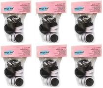 Kit com 6 Pacotes de Lixas Descartáveis para Pedicuro Mega Bell - Total de 72 Lixas -