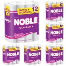 Kit com 6 Papel Higiênico Folha Dupla Noble 12 Rolos Atacado Barato -