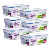 Kit com 6 Potes Herméticos Qualidade Premium Click Fresh -