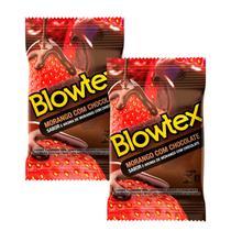 Kit com 6 Preservativo Blowtex Morango e Chocolate c/ 3 Un Cada -