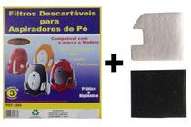 Kit Com 6 Sacos Descartáveis Aspirador De Pó Electrolux Listo + Filtros Motor - Oriplast