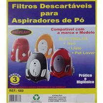 Kit Com 6 Sacos Descartáveis Aspirador De Pó Electrolux Neo Listo Petlover - Oriplast