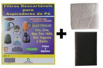 Kit Com 6 Sacos Descartáveis Aspirador De Pó Electrolux Trio + Filtros Motor - Oriplast