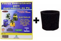 Kit Com 6 Sacos Descartáveis Aspirador Pó Electrolux A10 Smart Mod. A10n1 + Filtro Motor - Oriplast